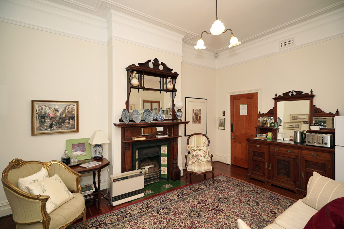 Durack House's guest lounge