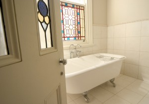 Relax in style in the Camellia Room's personal bath
